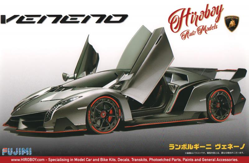 1:24 Lamborghini Veneno Model Kit Deluxe c/w Engine Detail and Photoetched Parts