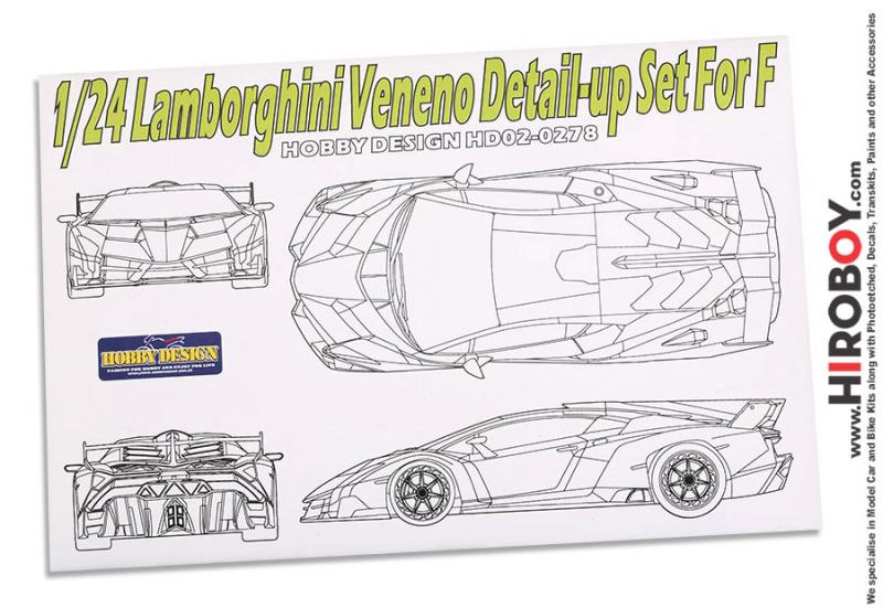 1:24 Lamborghini Veneno Photoetch Detail-Up Set for Fujjimi