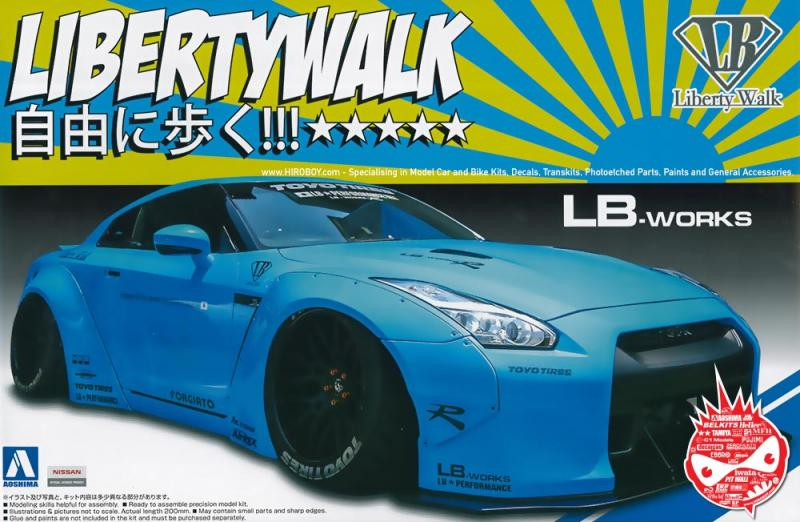 1:24 Liberty Walk (LB Works) Nissan GT-R R35
