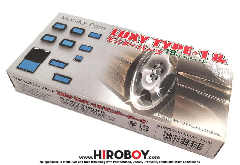 "1:24 Luxy Type 1 19"" Wheels/Tyres and Monitor Parts"