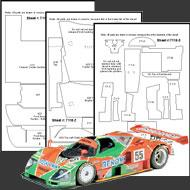 1:24 Mazda 787B Composite Fiber Decal Template Set #7115