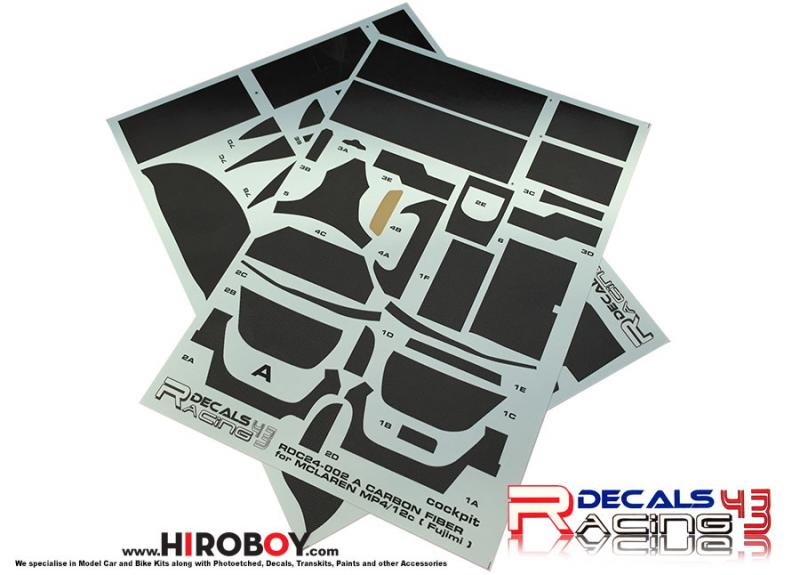 1:24 Mclaren MP4/12C Carbon Fiber Pattern Decals (Fujimi)