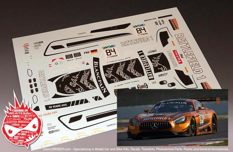 1:24 Mercedes-AMG GT3 Battlefield 1 Spa-2017 #84 Decals