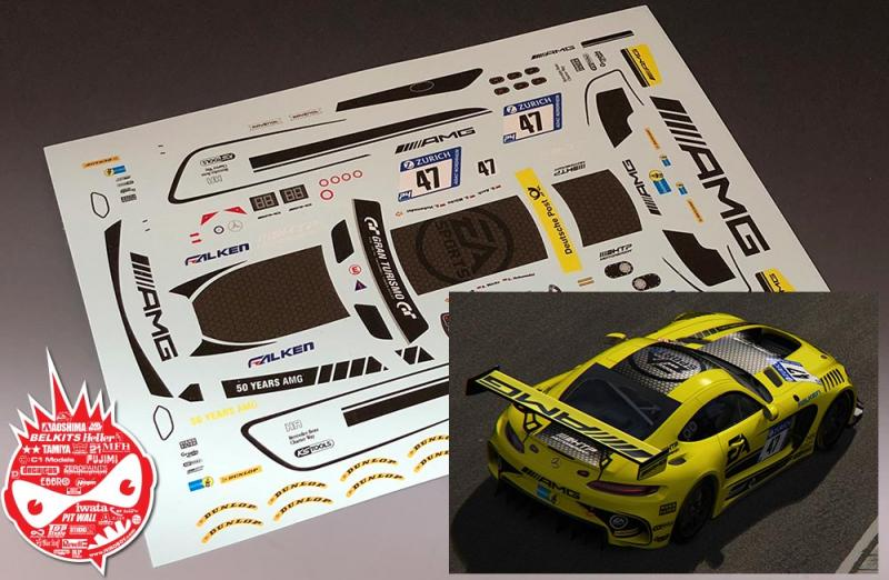 1:24 Mercedes-AMG GT3 HTP Motosport - EA Sports #47 Decals