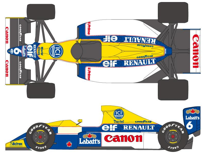 1:20 Williams FW13B Decals (Tamiya)