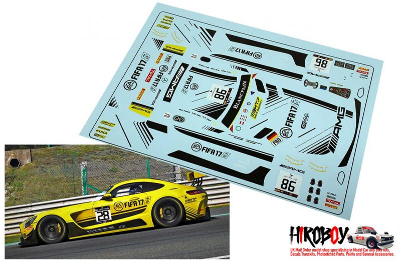 1:24 Mercedes AMG GT3 Fifa HTP Motorsport #86 Spa 2016 Decals