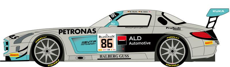 1:24 Mercedes SLS GT3 #86 Spa 24h 2014 (HTP Motorsport)