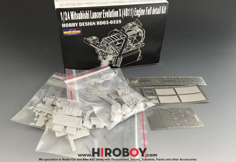 1:24 Mitsubishi Evo X 4B11 Mivec Engine Detail Set (Resin)