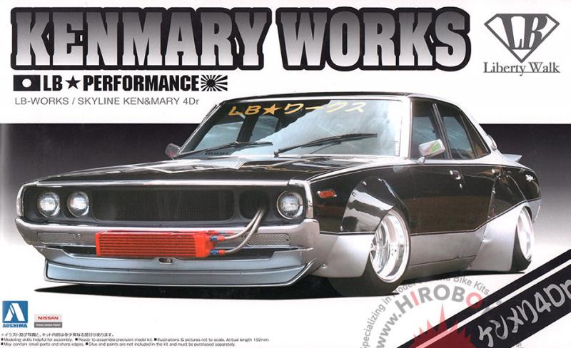 1:24 Nissan C110 Kenmary Works LB Performance 4Dr