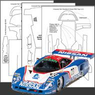 1:24 Nissan R89C Composite Fiber Decal Template Set #7014