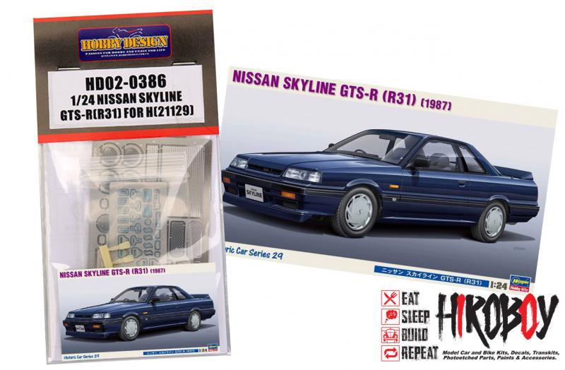 1:24 Nissan Skyline GTS-R (R31) Photoetched detail set For Hasegawa (21129)