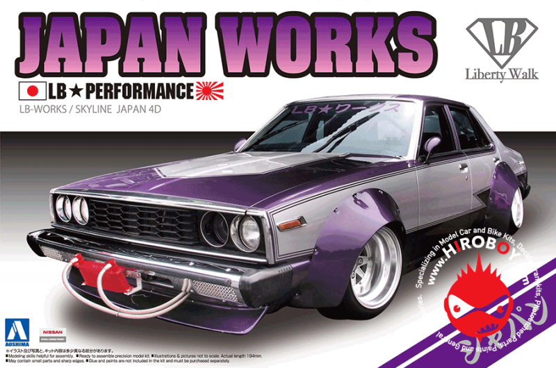 1:24 Nissan Skyline LB Works Japan Works 4Dr
