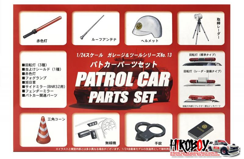 1:24 Patrol Car Parts Set