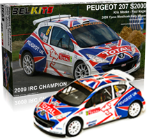 1:24 Peugeot 207 S2000 (Kris Meeke Rally Car)