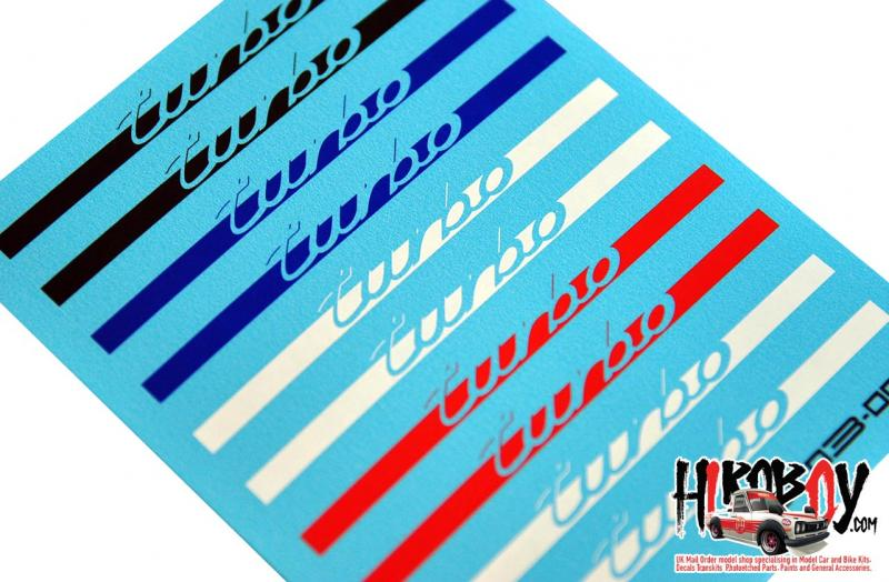 "1:24 Porsche ""Turbo"" Stripe Decals"