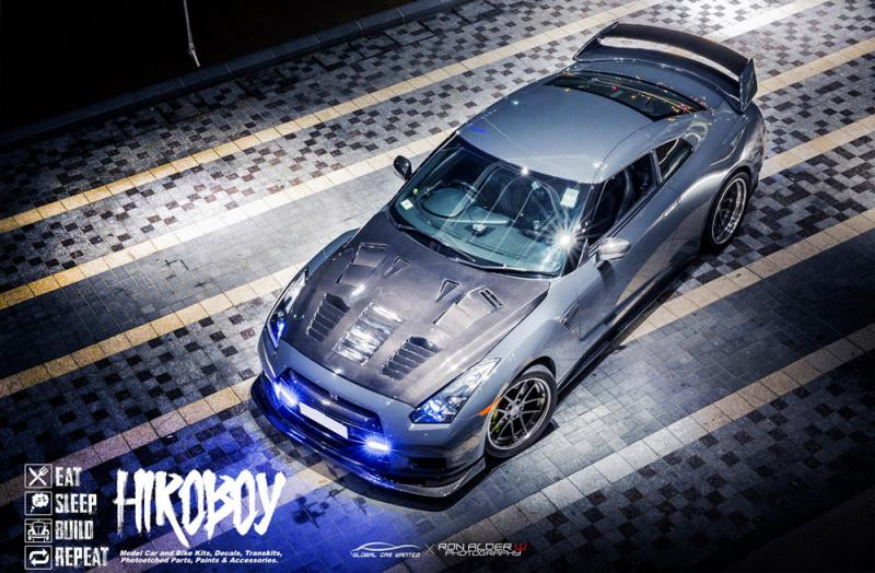 1:24 Zele R35 with KR GT2 Bonnet Transkit