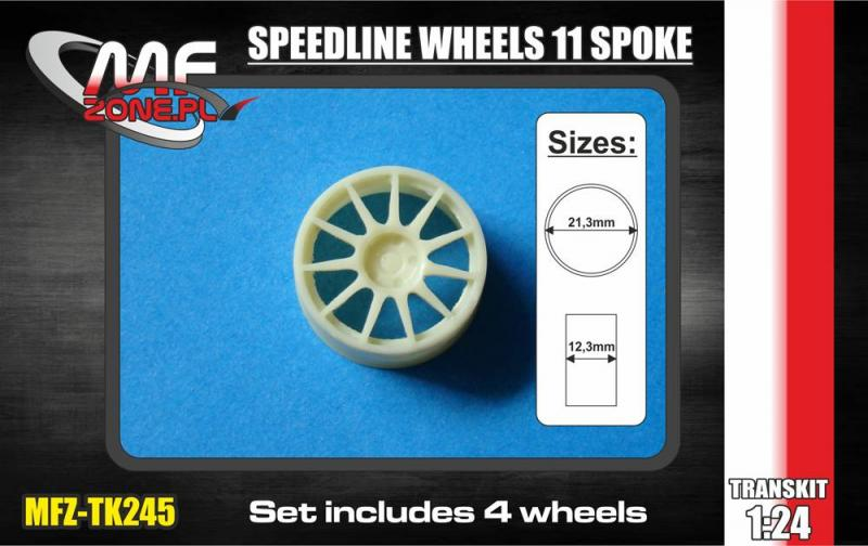 1:24 Speedline Wheels 11 spoke
