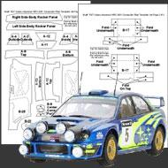 1:24 Subaru WRC 2001 Composite Fiber Decal Template Set #7027