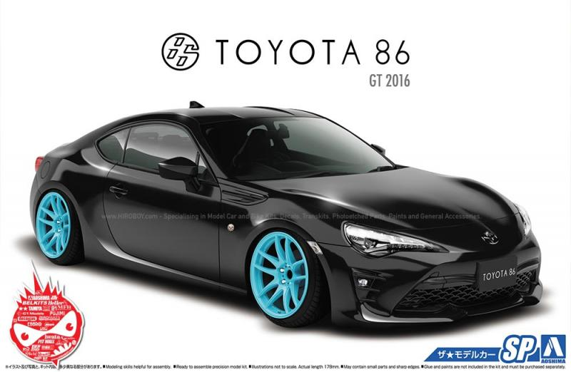 1:24 Toyota 86 (GT86) 2016 Version with Custom Wheels