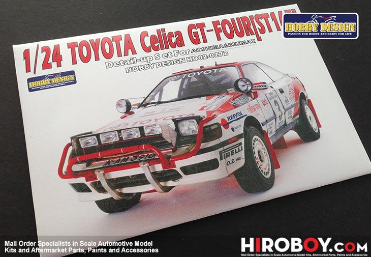1:24 Toyota Celica GT-FOUR Detail set for Aoshima/Beemax