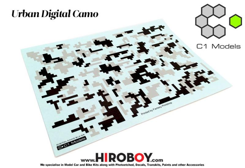 1:24 Urban Digital Camo (Camouflage) Decals