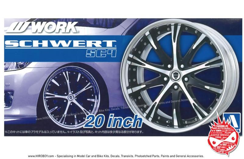 1:24 Work Schwert SC4 20 Inch VIP Wheels and Tyres