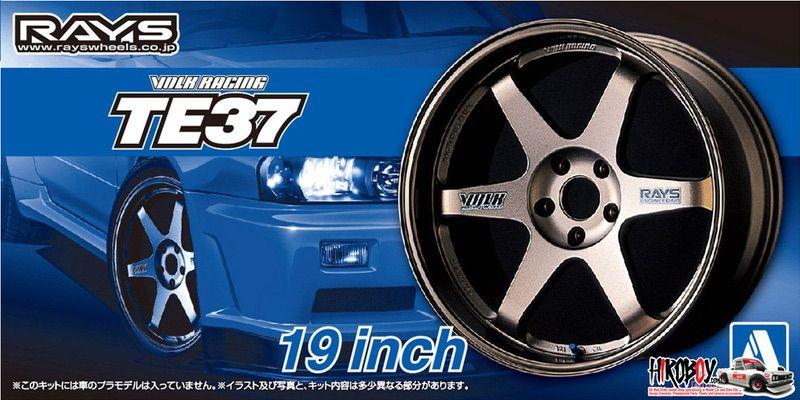 "1:24 Volk Racing TE37 19"" Wheels and Tyres (Bronze) #57"