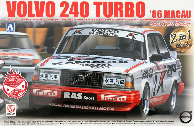 1:24 Volvo 240 Turbo '86 Macau GP. Guia Race Winner