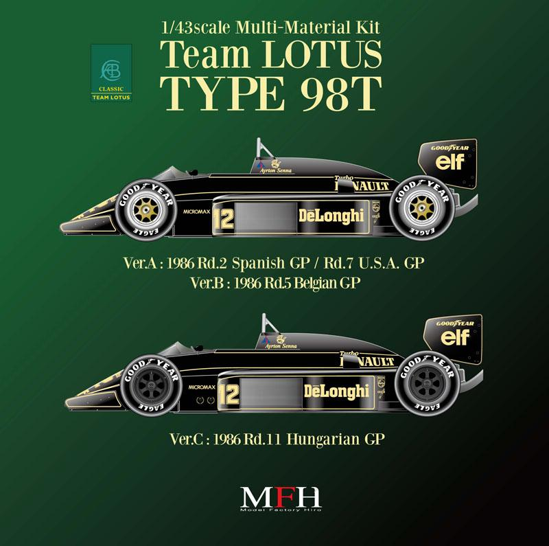 1:43 Lotus 98T ver. B Multi-Media Model Kit
