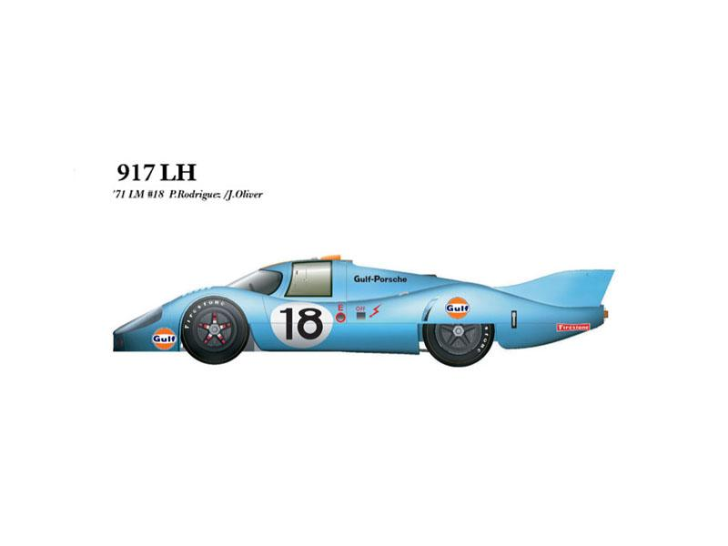 1:43 Porsche 917LH 71 ver.B No.18 Multi-Media Model Kit