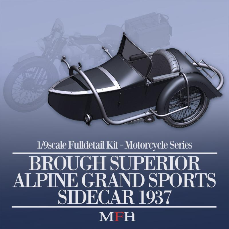 1:9 Brough Superior Alpine Grand Sports Sidecar 1937