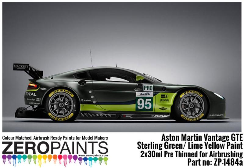 Aston Martin Vantage GTE - Sterling Green/Lime Yellow Paints 2x30ml