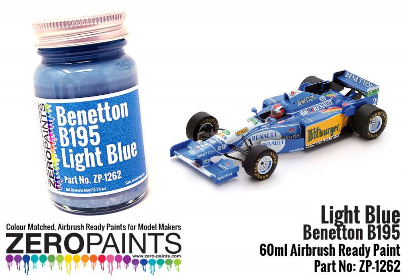 Benetton B195 Light Blue Paint 60ml