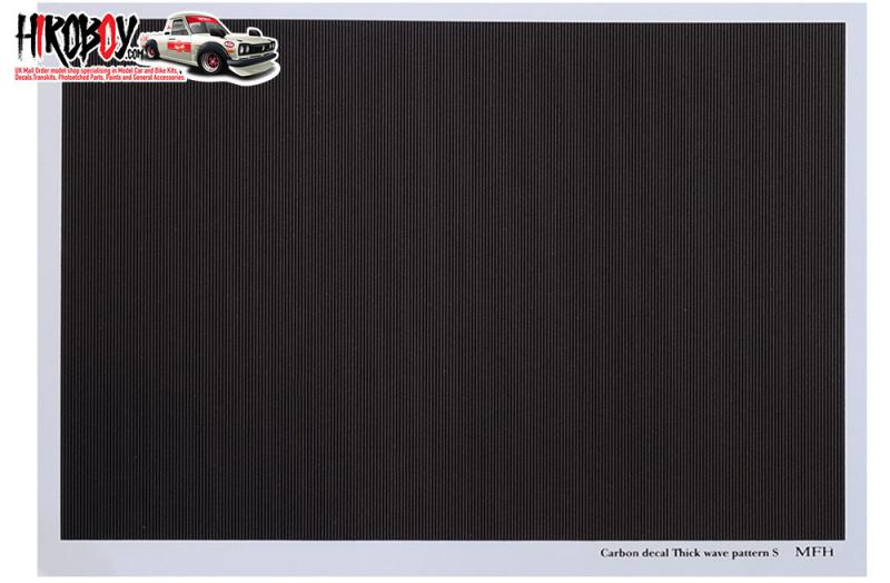 Carbon Decal Series [Carbon Thick Wave Pattern- S] - P1138