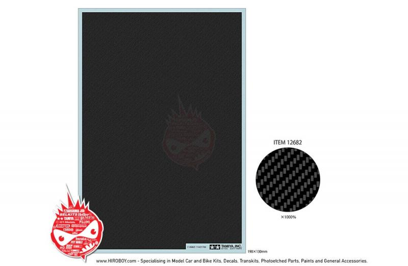 Carbon Pattern Decal Set - Twill Weave/Extra Fine - Tamiya 12682