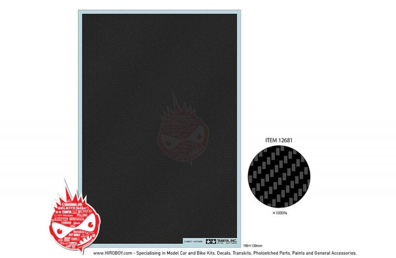 Carbon Pattern Decal Set - Twill Weave/Fine - Tamiya 12681