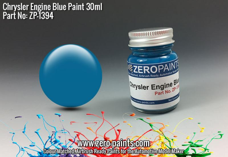 Chrysler Blue Engine Paint 30ml