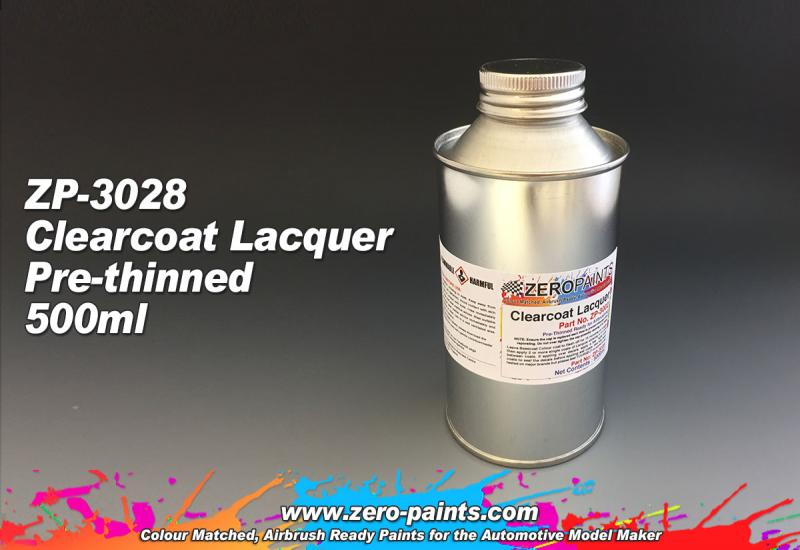 Clearcoat Lacquer 500ml - Pre-thinned ready for Airbrushing