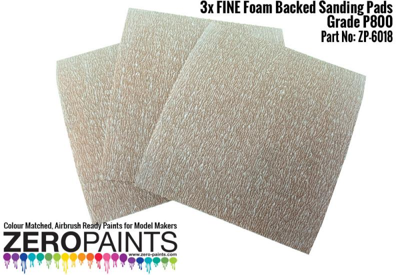 FINE Foam Backed Sanding Pads P800 (x3)