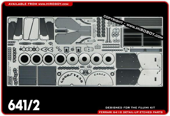 1:20 Ferrari 641/2 - Photoetched Detail Parts
