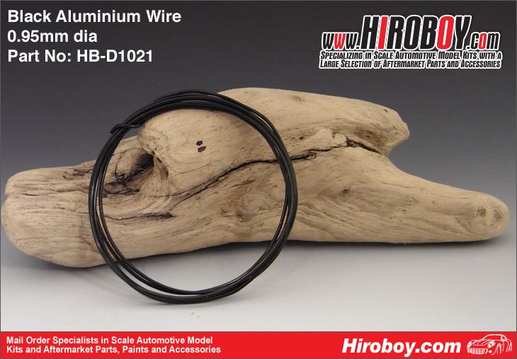 Flexible Aluminium Wire 0.95mm - Black