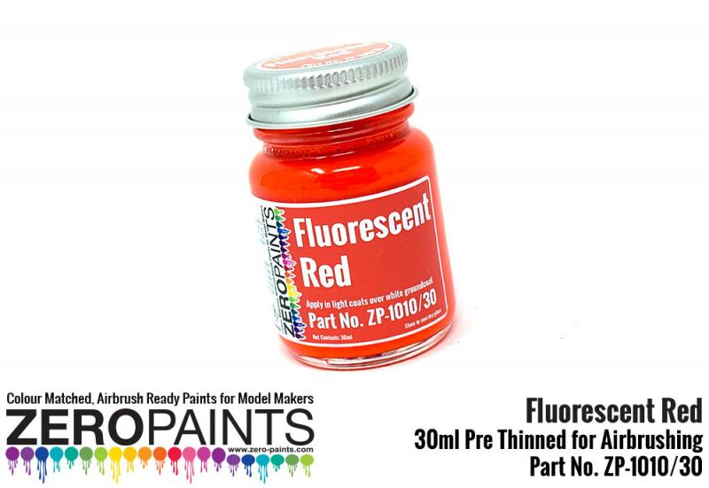 Fluorescent Red Paint 30ml
