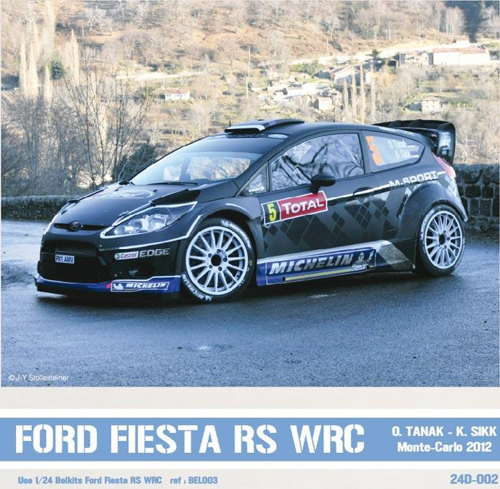 Ford Fiesta WRC Ott TANAK Monte-Carlo 2012. Decals for Belkits kit