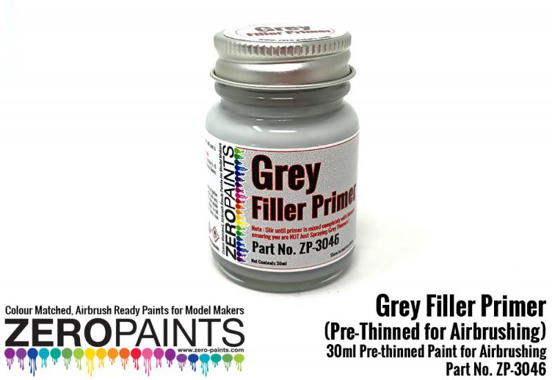 Grey Filler Primer 30ml for Airbrushing