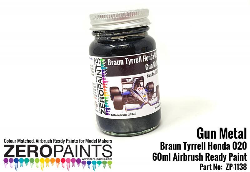 Gun Metal Paint for Braun Tyrrell Honda 020 60ml