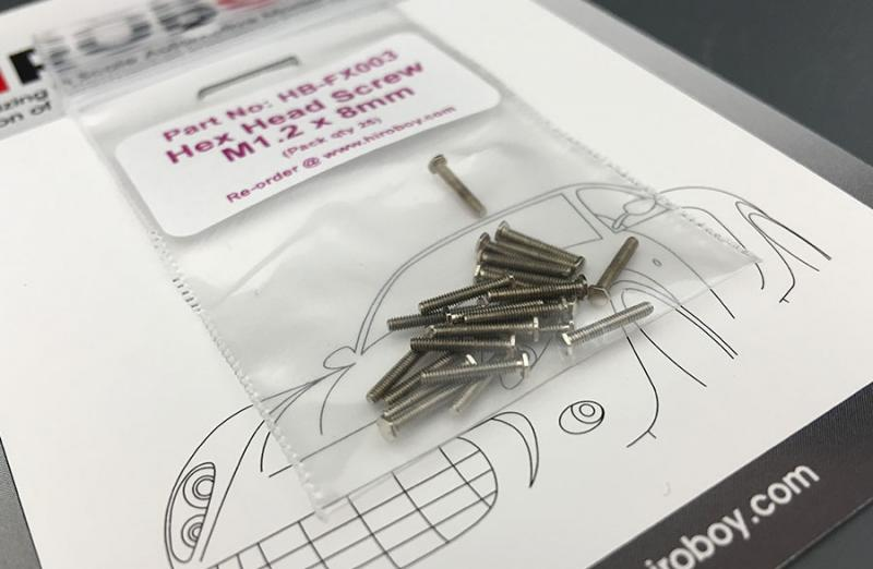 Hexagon Head Screws M1.2 x 8mm (x25)