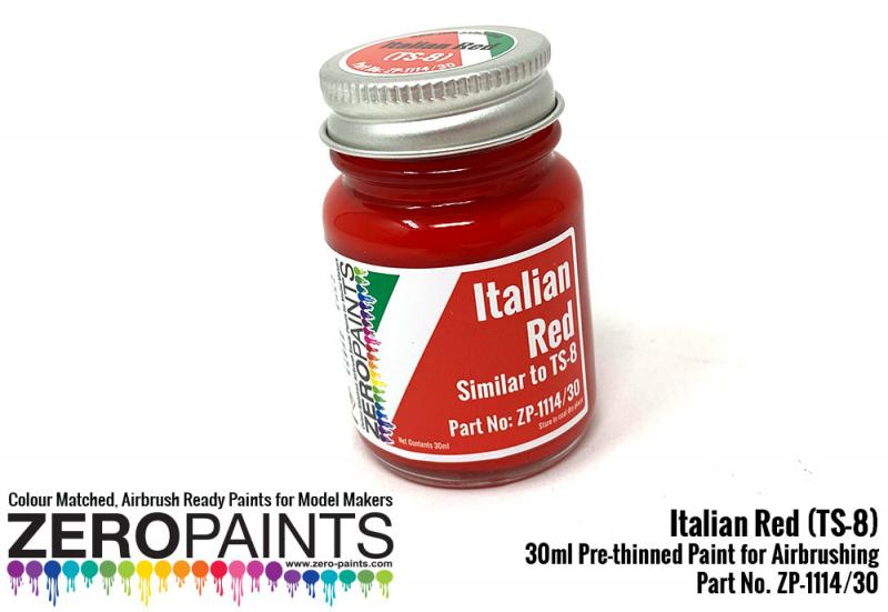 Italian Red Paint (Similar to TS8) 30ml