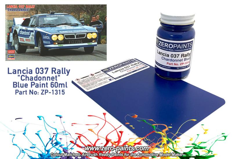 "Lancia 037 Rally ""Chardonnet""  Blue Paint 60ml"