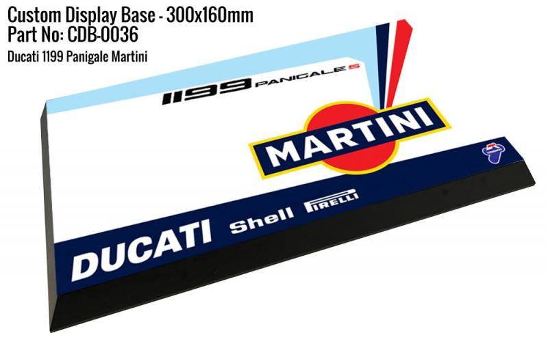 Martini Ducati 1199 Panigale S  - Display Base for Model Kits 300x160mm