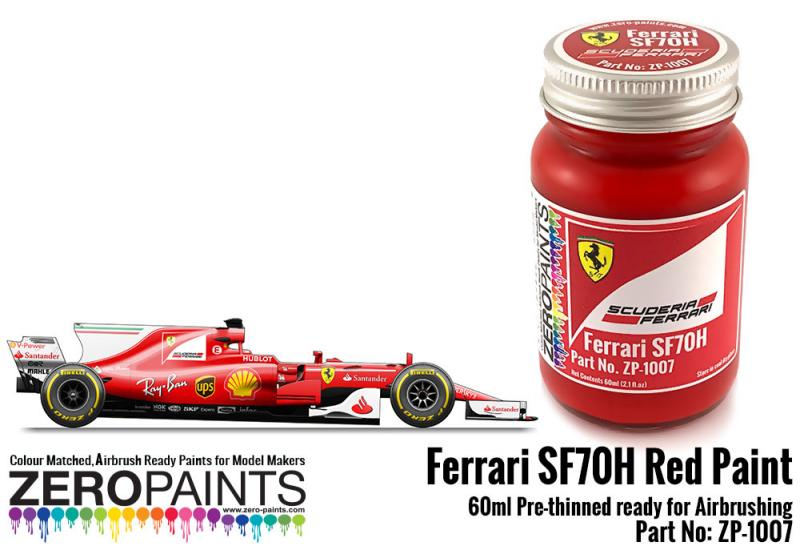 Ferrari SF70H (2017 Formula One) Red Paint 60ml